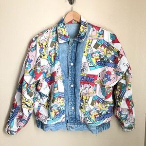 Jordache RARE 1986 Denim Jacket Comics MTV